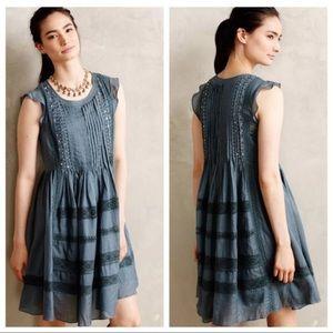 Vanessa Virginia Marit Sequin Pleated Lace Dress